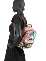 Backpack Desigual Multicolor bruselas 20WAKP51-vue-porte