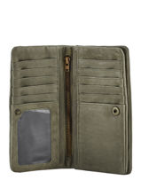 Wallet Leather Basilic pepper Green cow BCOW96-vue-porte