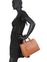 Handbag Wild Leather Hexagona Brown wild 136499-vue-porte