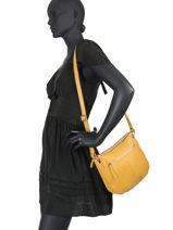 Leather Crossbody Bag Hexagona Yellow wild 139095-vue-porte