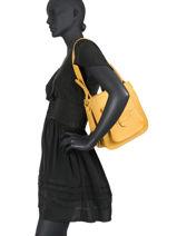 Leather Confort Shoulder Bag  Hexagona Yellow wild 139092-vue-porte