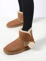 Boots classic charm mini en cuir-UGG-vue-porte