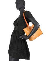 Shoulder Bag Exotica Hexagona Beige exotica 866984-vue-porte