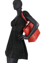Medium Zip Tote Bag Opéra Lancel Red l