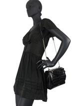 Medium Leather Ninon Croco Handbag Lancel Black ninon A10930-vue-porte