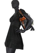 Medium Leather Premier Flirt Croco Bucket Bag Lancel premier flirt A10926-vue-porte