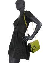 Leather Adèle Croco Crossbody Bag Lancel adele A10757-vue-porte