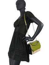 Medium Leather Ninon Croco Handbag Lancel ninon A10930-vue-porte