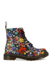 Floral pascal wanderlust 1460 boots in leather-DR MARTENS