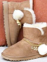 Boots classic charm mini en cuir-UGG