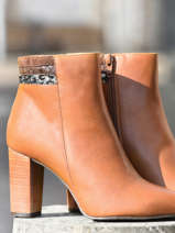 High leather ankle boots in leather-BRENDA ZARO