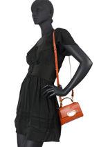 Crossbody Bag Rosella Leather Gianni chiarini Orange rosella BS8170-vue-porte