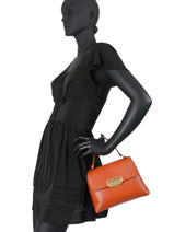 Top Handle Rosella Leather Gianni chiarini Orange rosella BS8171-vue-porte