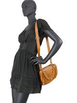 Crossbody Bag Olympia Leather Gianni chiarini Brown olympia BS7995-vue-porte