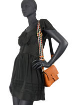 Crossbody Bag Elettra Leather Gianni chiarini Orange elettra BS7886A-vue-porte