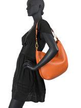 Shoulder Bag New Stuffy Leather Gianni chiarini Orange new stuffy BS8322-vue-porte
