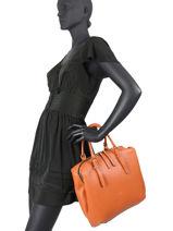 Top Handle Bella Leather Gianni chiarini Orange bella BS7981-vue-porte