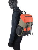 Sac à Dos Business Ecoalf Vert backpack WILDSHER-vue-porte