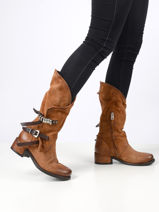 Boots in leather-AS98-vue-porte