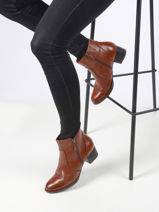 Bottines en cuir-TAMARIS-vue-porte