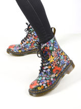 1460 floral pascal wanderlust boots in leather-DR MARTENS-vue-porte
