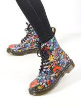 Boots 1460 pascal wanderlust à fleurs-DR MARTENS-vue-porte