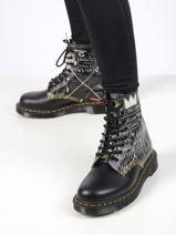 1460 basquiat boots leather-DR MARTENS-vue-porte