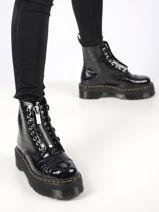 Boots sinclair effet croco en cuir-DR MARTENS-vue-porte