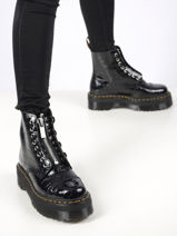 Boots sinclair en cuir verni effet croco-DR MARTENS-vue-porte