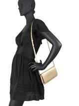 Saffiano Leather Winston Crossbody Bag Lauren ralph lauren Brown crosshatch 31802429-vue-porte