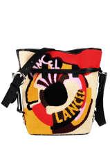 Medium Elsa Pop Bucket Bag Shearling Lancel elsa A11006