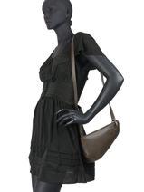 Leather Crossbody Bag N City Nathan baume Brown n city - 00010-00-vue-porte