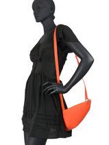 Leather Crossbody Bag N City Nathan baume Orange n city - 00010-00-vue-porte