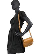 Shoulder Bag Turnlock Leather Tommy hilfiger Brown turnlock AW08646-vue-porte