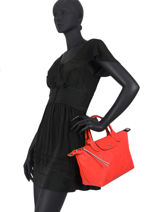 Longchamp Le pliage cuir pokemon Handbag Red-vue-porte