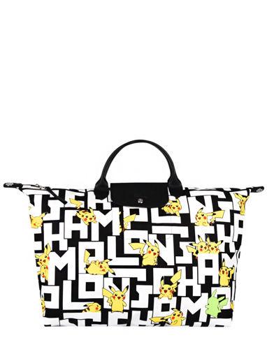 Longchamp Le pliage coll pokemon Travel bag White