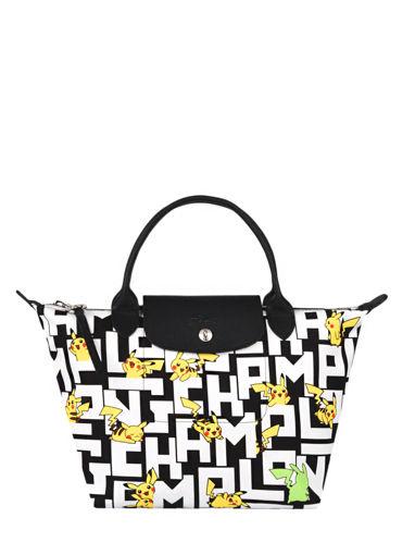 Longchamp Le pliage collection pokemon Handbag White
