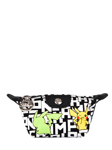 Longchamp Le pliage collection pokemon Coin purse White