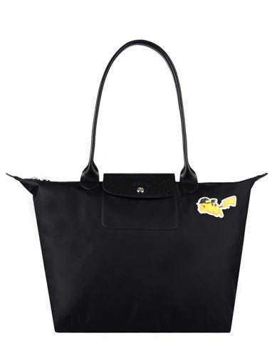 Longchamp Le pliage coll pokemon Hobo bag Black