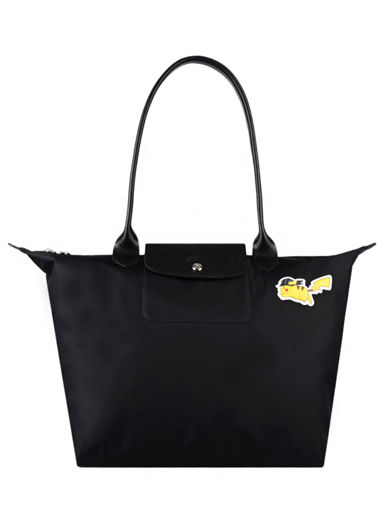 Longchamp Le pliage collection pokemon Hobo bag Black