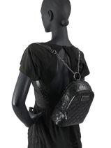 Backpack Guess Black lola SM787432-vue-porte