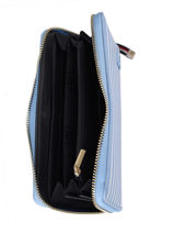 Zip Wallet Th Saffiano Tommy hilfiger Blue th saffiano AW08651-vue-porte