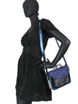 Leather Mlle George Cosmos Crossbody Bag Paul marius Blue cosmos GEORGCOS-vue-porte