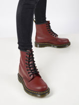 1460 smooth leather ankle boots-DR MARTENS-vue-porte