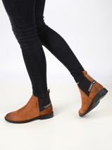 Essential suede chelsea boots-TOMMY HILFIGER-vue-porte