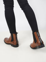 Essential leather chelsea boots-TOMMY HILFIGER-vue-porte