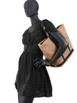 Medium Le Cabas Shearling Shoulder Bag Vanessa bruno cabas 90V40414-vue-porte