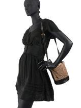Crossbody Bag Holly Leather Vanessa bruno Brown holly 24V40573-vue-porte