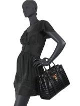 Top Handle Nouveau Hamilton Leather Michael kors Black nouveau hamilton F0G0HS3E-vue-porte