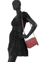 Shoulder Bag Ginny Leather Michael kors Red jetset F7GGNM8L-vue-porte